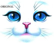 Gorgeous Bue Eyed Cat Face... ~Counted~ Cross Stitch Pattern ~Computer Generated~ BBXS