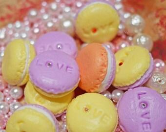 Macaron Fridge Magnets with Swarovski Stones