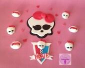 Monster High Edible Cake Topper Sugar Fondant Decoration