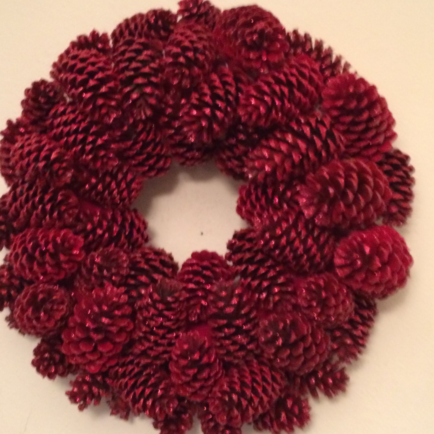 Red Pinecone Christmas Wreath