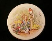 Vintage Peter Rabbit Tin - FREE US SHIPPING
