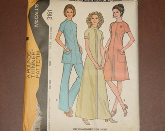 Vintage McCall's Dress  Pattern 3161 - Size 14-1/2/Bust 37 - FREE US SHIPPING