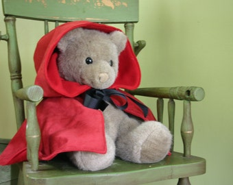 Little Red Riding Hood cape for babies up to 2T baby costume