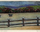 Monotype Landscape Art Sn...