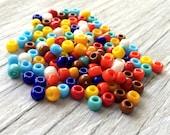 Toho glass seed beads - japanese glass beads size 6 mixed colors