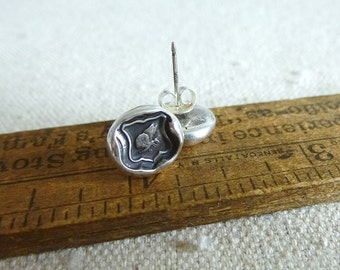 Butterfly Wax Seal Earrings - Psyche Butterfly Jewelry - 269EAR