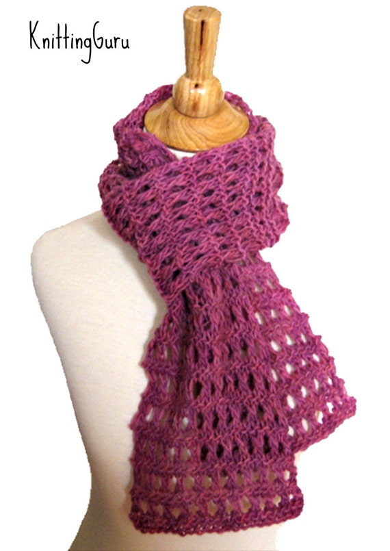 Knitting Garter Stitch Scarf : Easy knit scarf pattern and tutorial heavenly garter lace