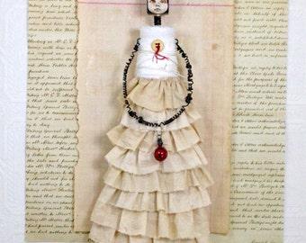 Original Mixed Media Art Doll Minuet