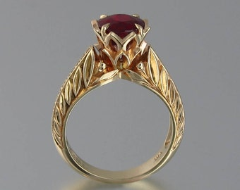 EDELWEISS 14K gold engagement ring with Ruby