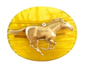 Alastair Yellow Lucky Horse Ring