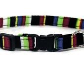 Cat Collar - Bold Stripes - Breakaway Safety Cute Fancy Cat Kitten Collar
