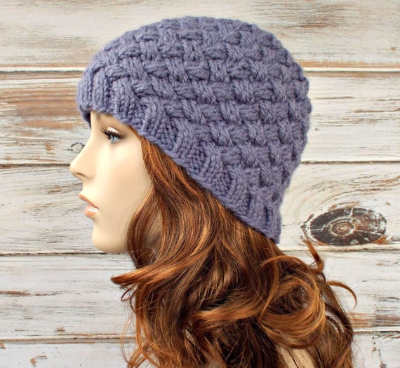 Womens Knit Hat Pattern : Instant Download Knitting Pattern Womens Knit Hat Pattern