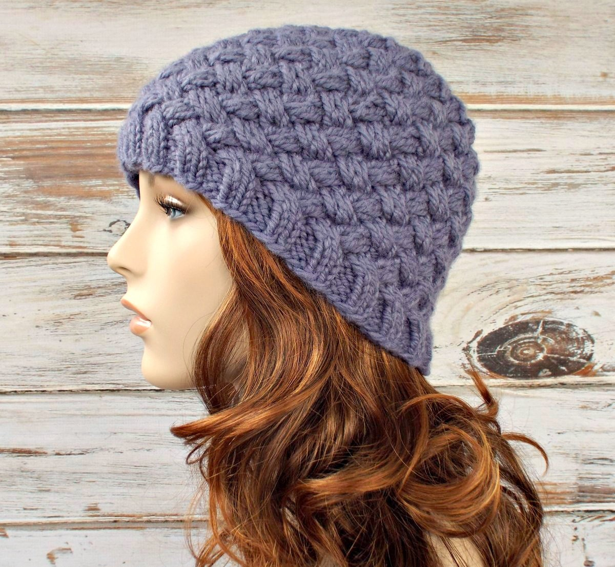 Knitting Hat Patterns For Women : Instant download knitting pattern womens knit hat
