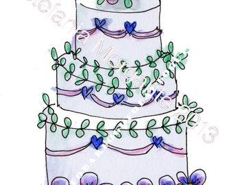Paper Digital sheet Printable CAKE with pansies-scrapbooking-Download and print-300 DPI