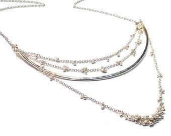 Asuka Quad Necklace -Choose your Finish