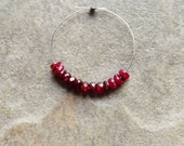 SALE - Dyed Ruby Faceted Rondelle Beads - 3mm - 12 Beads