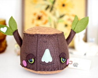 Tree Stump Plush Toy