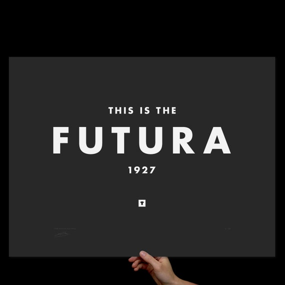 Art Print Futura, Typography Print, Screenprint, Print, Poster, Office, Home, Living Room Art, Wes Anderson, Graphic Design, Black and White