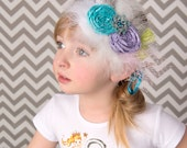 Headband Veil Mermaid Silk Rhinestone Decades The Coralia