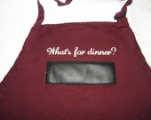 "Ready to Ship Chalkboard APRON Embroidery BBQ 30"" What's for dinner?"
