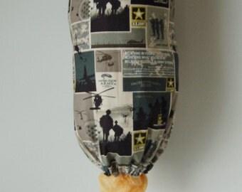Grocery Bag Dispenser - Plastic Bag Holder - Fabric Army Military