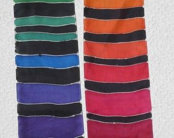 Hand Painted silk scarf - Rainbow