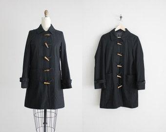 toggle coat / black wool coat / long wool coat