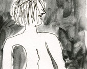 Pocket Nudes 4 // artist trading card / ink / graphite / aceo / ooak