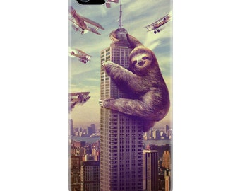 iPhone 5 & 5s Case, Sloth, Slothzilla, Hard Case