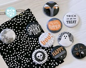 "1"" Flair Badges / Spooky Halloween by Jennifer Pebbles"