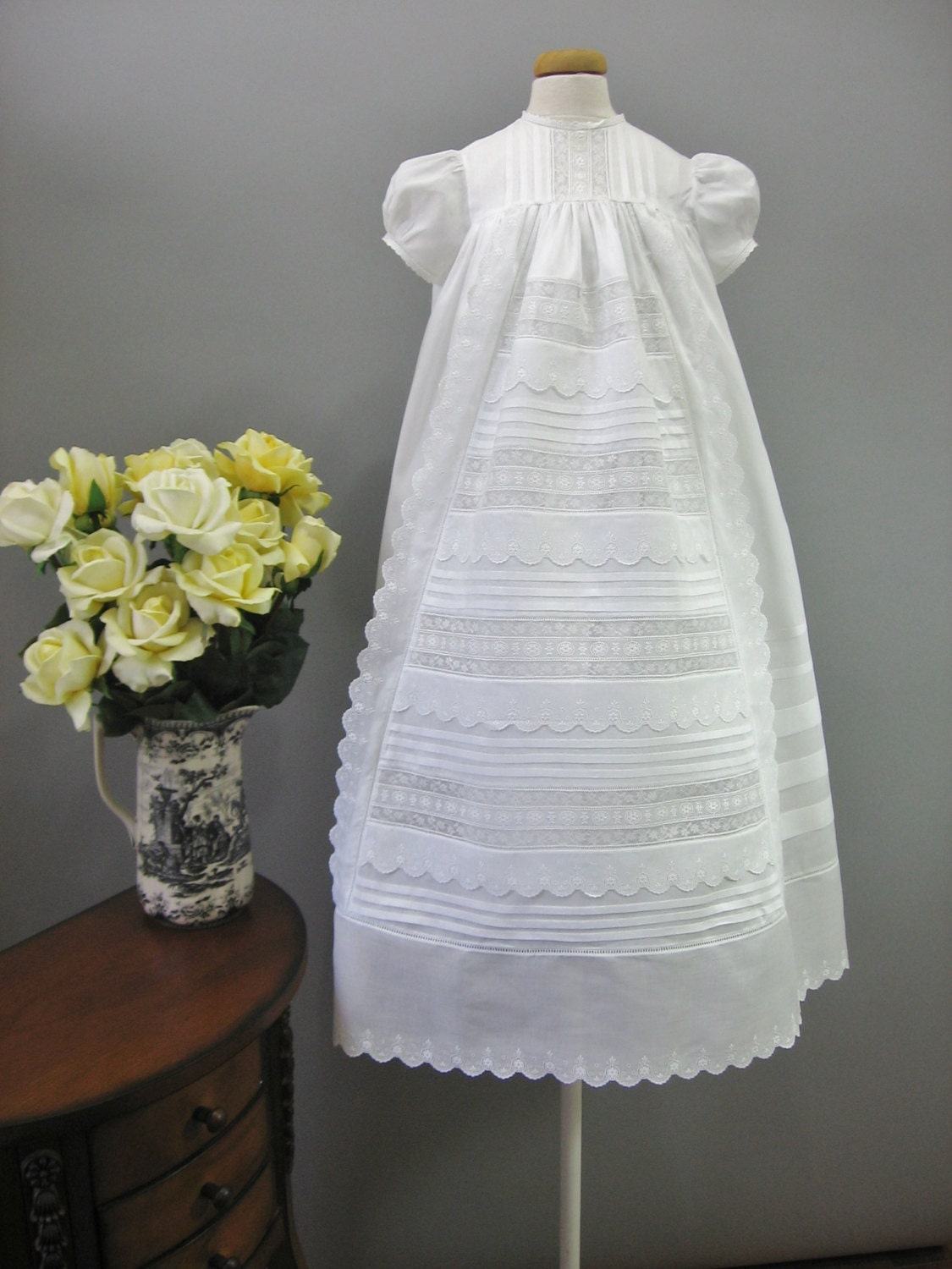 Christening Gown Baptism Dress Baby Blessing And Dedication