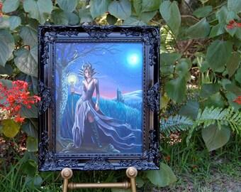 Maleficent Art ORIGINAL Maleficent Painting Sleeping Beauty Art Fairy Tale Art Fantasy Art