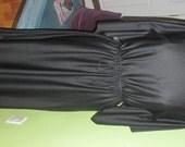 Adorable Flutter Sleeves Black Vintage Dress with Matching Belt