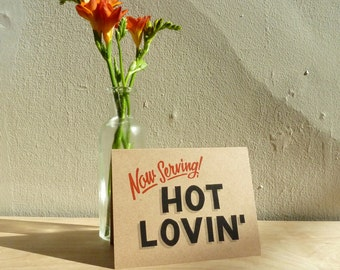 Hot Loving card