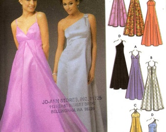 Brides wedding dress bridesmaid grad party frock evening gown sewing pattern design your own sewing pattern Simplicity 5096 Sz 14 to 18