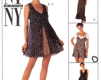 Summer Romper pattern slip dress and overdress 90s sewing pattern McCalls 7648 summer fashion Size 16