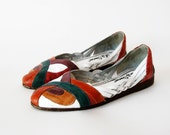 vintage 1980s COLORFUL leather huraches sandals