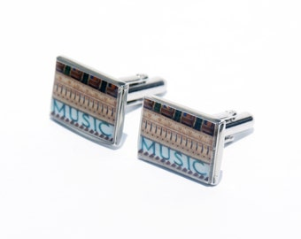 CUFF LINKS - Music Photo Cuff Links - Brooklyn Academy of Music - BAM