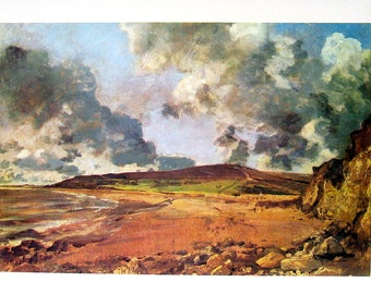 Weymouth Bay - John Constable - English Painter - Masterpiece Painting - 1966 Vintage Print Reproduction - 12 x 15