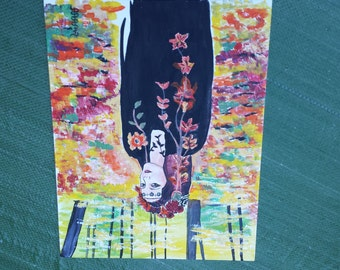 Persephone in Autumn The Cosmic Goddess Gift Card 5 inches by 7 inches Free Shipping in United States