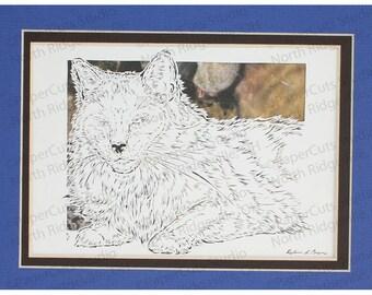 Fluffy Domestic Cat Papercutting- Handcut Original