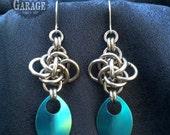 Earrings - Persephone Diamonds with Titanium Scale