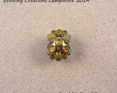 EVOLVING - Mid-sized Studded Honey Helios Focal - Lampwork Glass Beads by Shani Barrett SRA