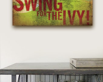 Wrigley Field Chicago Cubs baseball swing for the IVY art on gallery wrapped canvas by stephen fowler