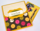 Teacher Gift Card Holder - Teacher Thank You Card - Teacher Appreciation Card, Cards for Teachers, Gift Card Holder for Teachers