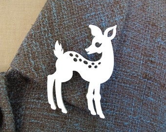 Doe-Eyed Deer Brooch/Pin - Laser Cut Acrylic (C.A.B. Fayre Original Design)
