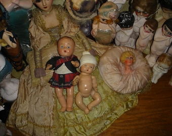 2 Vintage Composition Baby Dolls