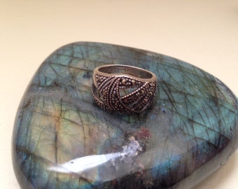 Vingtage Marcasite and Sterling Silver Ring