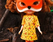 The Fantastic Mrs. Fox dress & mask set for blythe