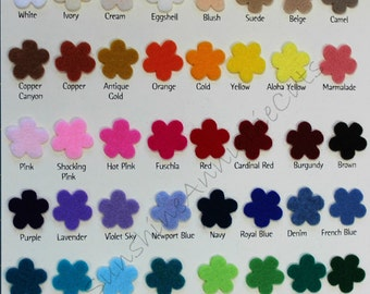NEW Color Chart 45 CRAFT FELT color Samples ~ National Non Woven Quality felt